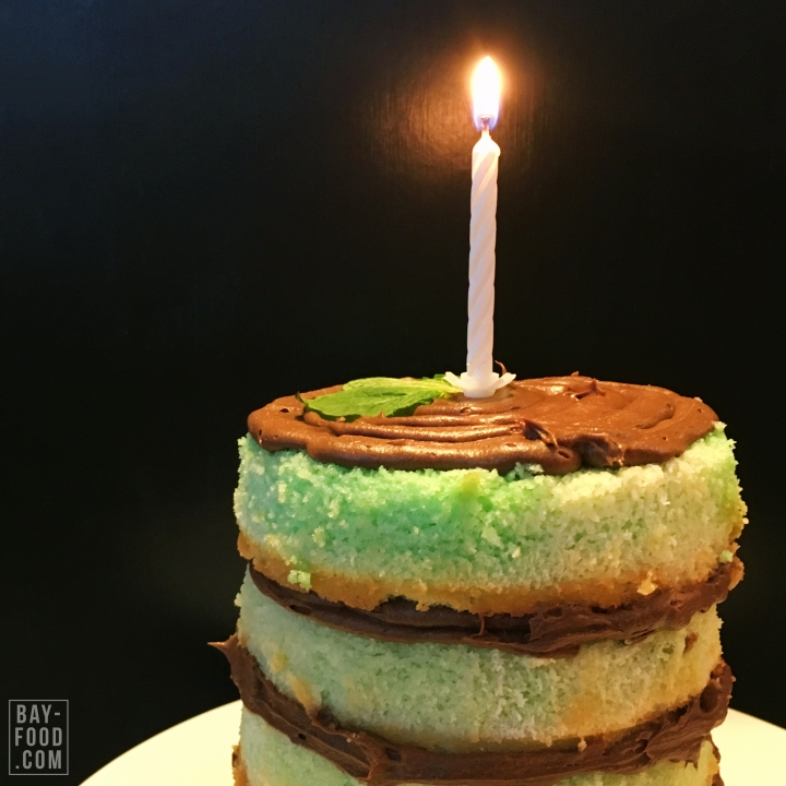 Naked Green Ombré Cake
