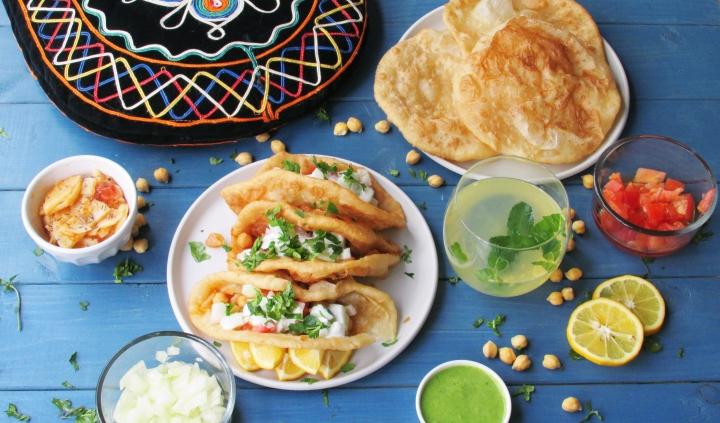 Puri Chana (Chickpea)Tacos