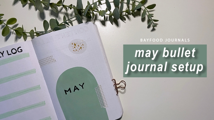 May bullet journal spreads: minimalist arches andshapes